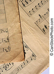 מוסיקה, דפים