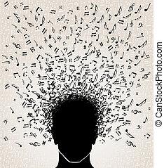 מוסיקה, הובל, עצב, רואה, out