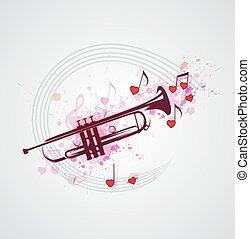 מוסיקה, הכרז, רקע