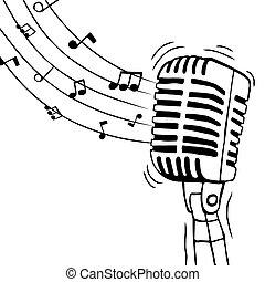 מוסיקה, הפרד, רואה, מיקרופון, מוסיקלי