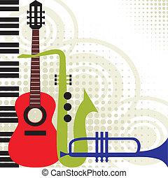 מוסיקה, וקטור, כלים