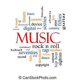 מוסיקה, מושג, מילה, ענן