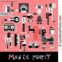 מוסיקה, מפלגה