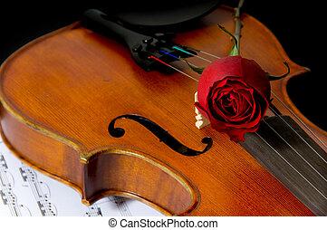 מוסיקה, עלה, כינור, דף