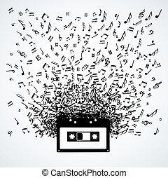 מוסיקה רואה, הפרד, קלטת, עצב, out
