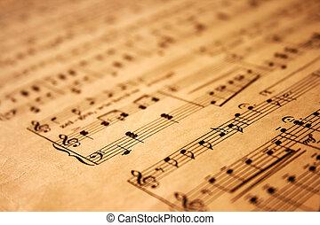 מוסיקה רואה, נייר, גראנג