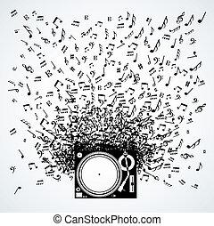 מוסיקה רואה, עצב, הפרד, משטח מסתובב