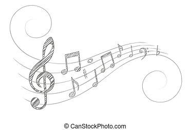 מוסיקה, רואה.