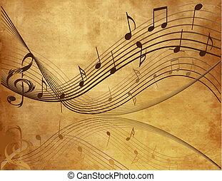 מוסיקה, רקע, בציר
