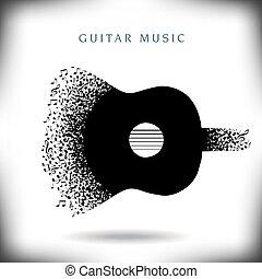 מוסיקה, רקע, גיטרה