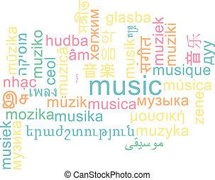 מוסיקה, wordcloud, מושג, multilanguage, רקע