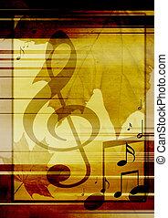 מוסיקלי, סמלים, רקע