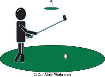 מועדון, גולף, הדבק דמות, התנדנד