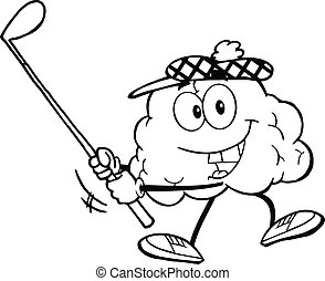 מועדון, מוח, תאר, גולף, להתנדנד