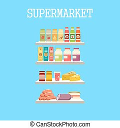 מוצרים, shelfs