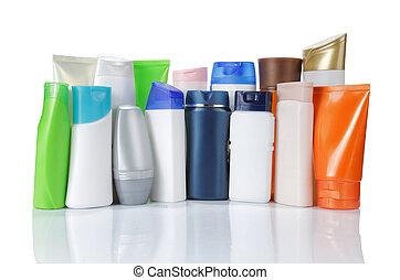 מוצר, קבץ, מעל, הפרד, packaging., רקע, לבן