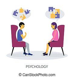מושג, דירה, פסיכולוגיה, רקע לבן, עצב