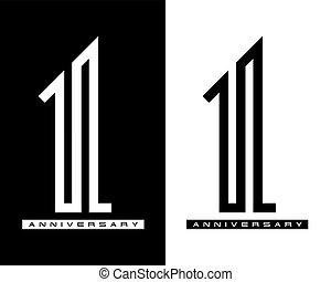 מושג, יום שנה, מישהו, וקטור, עצב, שנה, לוגו, חגיגה