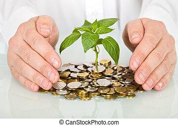 מושג, כסף, טוב, לעשות, להגן על, השקעה