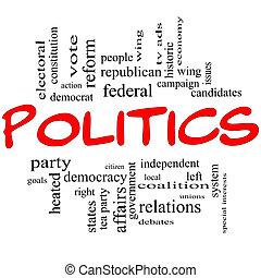 מושג, מכתבים, ענן, פוליטיקה, מילה, אדום