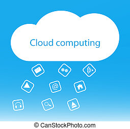 מושג, ענן, רקע, לחשב