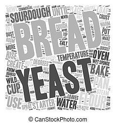 מושג, קל, טקסט, עשה, איך, wordcloud, רקע, שאור, bread