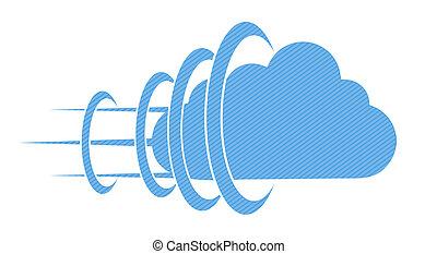 מושג, eps10, רקע., וקטור, ענן לבן
