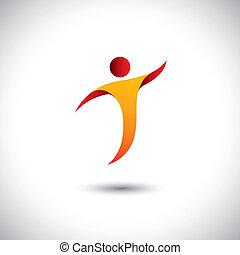 מושג, graphic., ספורט, אארוביכס, הסתבב, בן אדם, -, גם, לרקוד, יוגה, רקוד, דוגמה, איקון, טוס, מציג, כמו, זה, וכו', וקטור, אקרובטיקה, פעילות, התעמלות