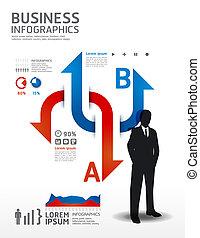 מושג, illustration., עסק, /, וקטור, infographics