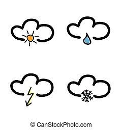 מזג אויר סמל, וקטור, דוגמה, נבא
