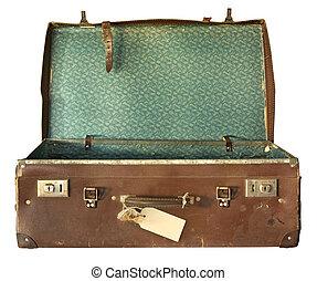 מזוודה, פתוח, בציר
