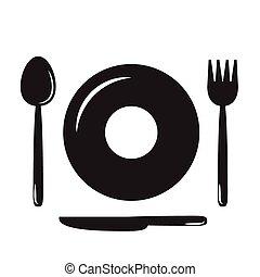 מזלגות, knives(fo, צלחות, כפות
