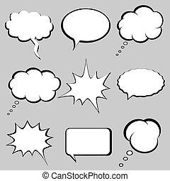מחשבה, בועות, נאום