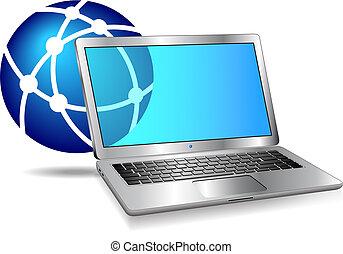 מחשב, אינטרנט, רשת, איקון