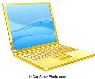 מחשב, זהב, מחשב נייד