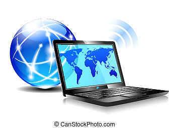 מחשב נייד, לגלוש, אינטרנט