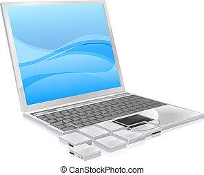 מחשב נייד, מושג, חתיכות