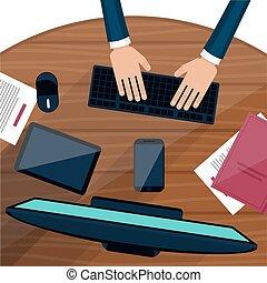 מחשב נייד, עסק, לעבוד, איש