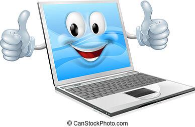 מחשב נייד, קמיע, איש