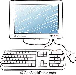 מחשב, ציור