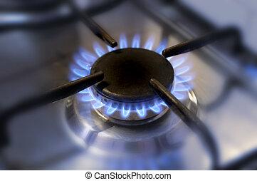 מטבח, גז, flame-2