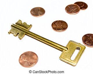 מטבעות, דולר, הקלד, אותנו
