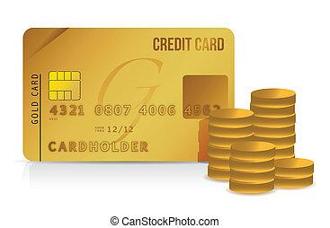 מטבעות, כרטיס אשראי, דוגמה