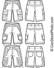 מטען, גברים, מכנסים קצרים