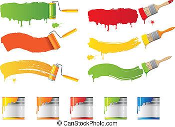 מיברשות, וקטור, מוט גלילי, צבע