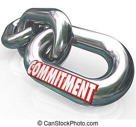 מילה, שלשל חיבורים, נאמנות, התחיבות, הבטח