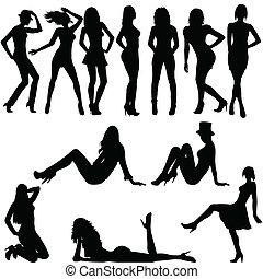 מיני, צלליות, קבע, נשים