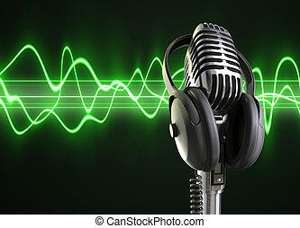 מיקרופון, אודיו, גלים, &