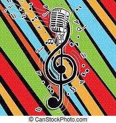 מיקרופון, צבעוני, מוסיקה, זמר, הקלד