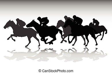 מירוץ של סוס, צלליות